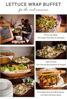 Lettuce wrap buffet -Heirloom-LA: No Carbs Please Brunch Mesa, Fingers Food, Table D Hote, Clean Eating, Healthy Eating, Good Food, Yummy Food, Cooking Recipes, Healthy Recipes