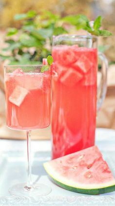 fresh watermelon sangria....