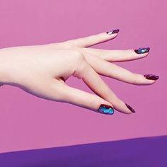 Nail Unistella by EK . Lab — @singlesmagazine nailart issue #glassnails...
