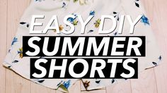 How to Make a Pair of Summer Shorts | WITHWENDY