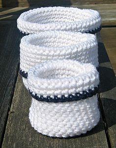 Crochet Nesting Bowls Nesting Baskets  Set by HandmadeByAnnabelle