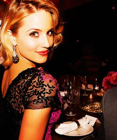 i just love her hair here, Dianna Agron!