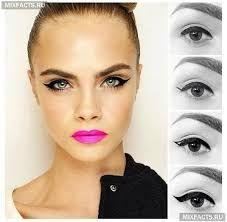 Картинки по запросу макияж фото уроки стрелки