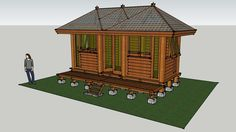 Gazebo Dinding 2x5,5 M2 - 3D Warehouse