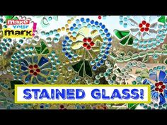 Don't toss your broken glass pieces! Turn them into a beautiful stained glass window for your patio. I used dollar store glass marbles These windows were Old Window Panes, Window Art, Window Glass, Window Ideas, Glass Partition, Faux Stained Glass, Stained Glass Windows, Mosaic Windows, Mosaic Glass