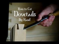 Learn how to cut woodworking joints with woodworking hand tools like hand saws, wood chisels, hand planers, plow planes, router planes, tongue & groove planes, etc.