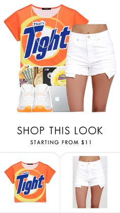 """Thats tight✨"" by maiyaxbabyyy ❤ liked on Polyvore featuring Forever 21, Just USA and Sevil Designs"