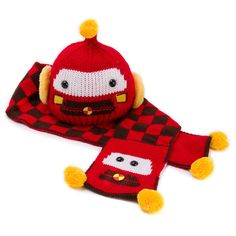 2pc Red Funny Robot Beanie & Scarf for Kids, 58.3% discount @ PatPat Mom Baby Shopping App