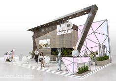 MD Group by Elena Lapshina, via BehanceCreative Point of purchase displays and exhibition booths for trade-shows created by TriadCreativeGroup.com inspired by artistic design and architecture. Give Steve a call at (262) 781-3100 ext 17