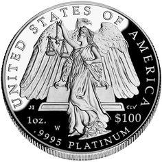 American Eagle Platinum Coin (Reverse)