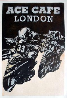 Pipeburn - Purveyors of Classic Motorcycles, Cafe Racers & Custom motorbikes Bike Poster, Motorcycle Posters, Motorcycle Art, Car Posters, Motos Vintage, Vintage Motorcycles, Vintage Bicycles, Vintage Cafe Racer, Vintage Racing