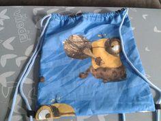Mama kreatywnie: Wyprawka szkolna - worek; Diy handmade School bag sewing tutorial
