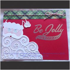 Detailed Santa Thinlit Die Be Jolly By Golly Stampin Up 2016 Holiday Christmas…