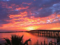 Destin Harbor at sunset viewed from the Emerald Grande