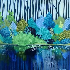 Tall Trees by Clair Bremner. Paintings for Sale. Abstract Landscape, Landscape Paintings, Abstract Art, Abstract Tree Painting, Abstract Trees, Landscapes, Unique Paintings, Australian Art, Acrylic Art