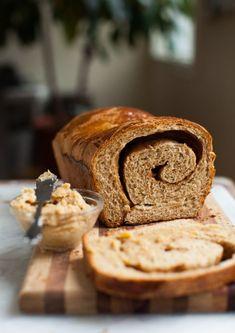Cinnamon Swirl Spelt Loaf | Simple Bites Cinnamon Swirl Bread, Best French Toast, Oatmeal Bread, Spelt Flour, Honey Butter, Biscuit Recipe, Dry Yeast, Bread Baking, Favorite Recipes