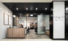 Liquid is a nail bar in Brisbane Modern Interior, Interior Design, Liquid Nails, Hair Shop, Nail Studio, Nail Bar, Hospitality Design, Beauty Bar, Retail Design