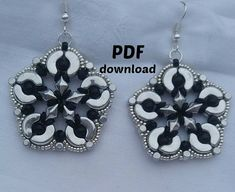 PDF tutorial for making big earrings Magia PDF pattern big earrings realized with arcos. PDF tutorial explains step by step how to make earrings with arcos and diamonduo. Besides Arcos par Puca and diamonduo are needed 4 mm beads and O beads. Diamonduo earrings is now available in Italian and English version, for any problem please contact me. this is my mail neka83@hotmail.it For any beading tutorial you can see it https://www.etsy.com/it/listing/386563100/tut...