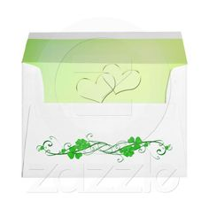 Green Lucky Shamrock,  Personalized Envelopes