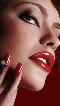 Desert Rose by jbfort on DeviantArt Stunning Eyes, Beautiful Lips, Gorgeous Makeup, Red Makeup, Makeup For Brown Eyes, Beauty Makeup, Makeup Lips, Makeup Art, Long Red Nails