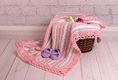Crochet Baby Blanket Baby booties Baby set Baby от CrochetRedCat