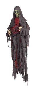 Skull Reaper Prop with Sign - 326101 | trendyhalloween.com #skull #skullprop #halloween #halloweenprops #halloweendecorations