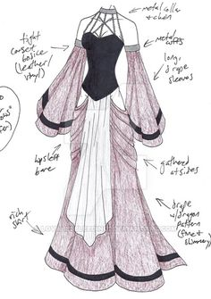 MHcd – Captive in Finery von ~ auf deviantART // LoveLiesBleeding … – - therezepte sites Dress Drawing, Drawing Clothes, Fashion Design Drawings, Fashion Sketches, Kleidung Design, Anime Dress, Dress Sketches, Fantasy Dress, Fantasy Outfits
