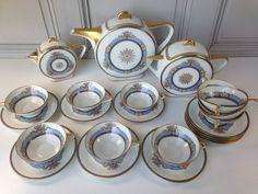 Art Deco TLB Limoges tea set Art Deco, Art Nouveau, China Sets, Tea Service, Coffee Set, Fine China, China Porcelain, Tea Pots, Clarice Cliff