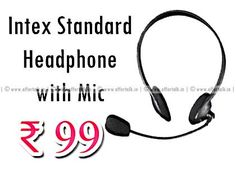 Intex Standard Headphone with Mic at Just Rs. 99 Only (Free Shipping)