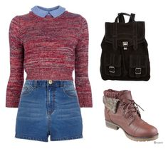"""""""Warm for school"""" by tania-alves ❤ liked on Polyvore featuring River Island, Carven, Refresh and Proenza Schouler"""