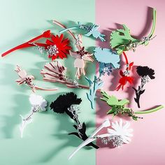 "Prada introduces ""Pop Bouquet"" Brooches collection for the F/W 2015. #PradaJewels via @prada Related"