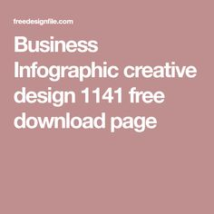 Business Infographic creative design 1141 free download page