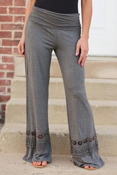 A Whole New World Palazzo Pants - Charcoal from Closet Candy Boutique