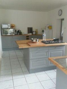 Cuisine on pinterest plan de travail cuisine ikea and - Cuisine grise et bois ...