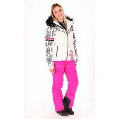 Kilpi, Lena ski-jas, dames, wit-grijs
