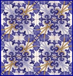 Sintra Antique Handpainted, Portuguese, Tiles - A1-Portuguese tiles - 33A -Sintra tile