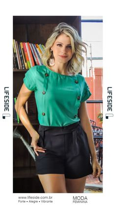 Diy Shorts, Fashion Outfits, Womens Fashion, Moda Fashion, Kurta Designs, Chor, Look Chic, Blouse Styles, Fashion Lookbook