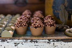 Indiana Jhones - Estes Cupcakes eu faria com um toque em dourado para 'acender' a cor.