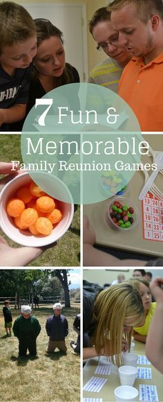 Need some ideas for your next family reunion or group event? Here are some great family reunion games (really, great group games!) that are sure to be a hit! Family Reunion Activities, Family Reunions, Family Reunion Themes, Family Events, Family Picnic Games, Family Party Games, Adult Party Games, Family Game Night, Church Picnic Games