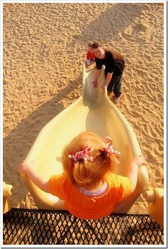 great idea for the playground...put mom and dad at the bottom or have one parent at top with child and another at bottom