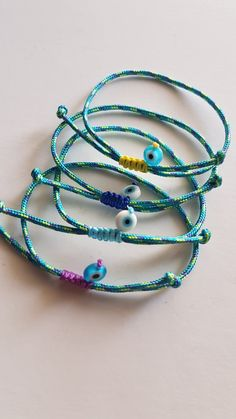 #μαρτυρικά #βάφτιση Wish Bracelets, Macrame Bracelets, Handmade Bracelets, Handmade Jewelry, Diy Jewelry Rings, Jewelry Making, Baptism Favors, Arts And Crafts, Diy Crafts