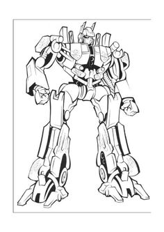 Transformer Printable Coloring Pages