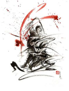 Paintings and prints for sale - samurai, geisha, cherry blossom, japanese culture. Ink painting gallery. Sumi-e.: