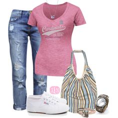 """Ballgame Date Night"" by tmlstyle on Polyvore"