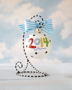 2014 Personalized Annual Christmas Ornament by Coton Colors at Horchow.