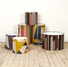 hand screen printed lampshades by Tamasyn Gambell for Førest