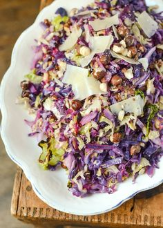 Recipe: Roasted Cabbage Slaw with Hazelnuts & Lemon