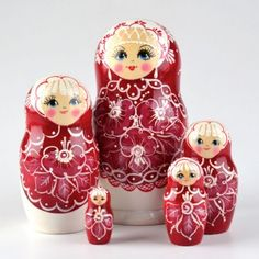 Fancy Crimson Red Floral Doll