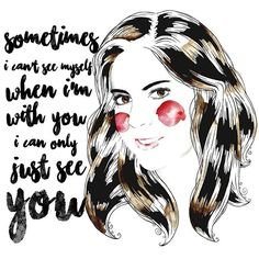 Sometimes i cant see myself when im with you, i can only just see you  #borjaandrea #art #arte #illustration #quote #quoteoftheday #quoteofthenight #watercolor #beautiful #love #lovely #pen #instagood #instaartist #portrait #draw #drawoftheday #paper #painting #paintoftheday #digitalart #dibujo #frasedeldia #frases #creative #graphic