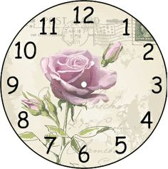 . Clock Craft, Diy Clock, Clock Face Printable, Shabby Chic Clock, Antique Plates, Clock Faces, Decoupage Paper, Wallpaper Pictures, Vintage Crafts